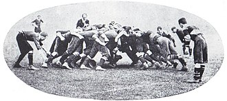 Newport RFC - Scrum between Newport and London Welsh 31 December 1904