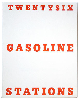 Artist's book - Twentysix Gasoline Stations, 1963 by Ed Ruscha.
