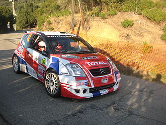Sébastien Ogier - Ogier at the 2008 Tour de Corse