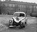 Sérült rendőrségi GAZ-M20V, Budapest 1959 - Fortepan 104117.jpg