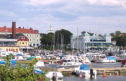 Strömstad Harbor in August 2006