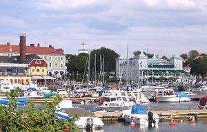 Strömstad - Strömstad Harbor in August 2006