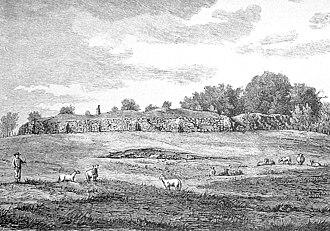 Søborg Castle - The ruins of Søborg Castle in the late 19th century