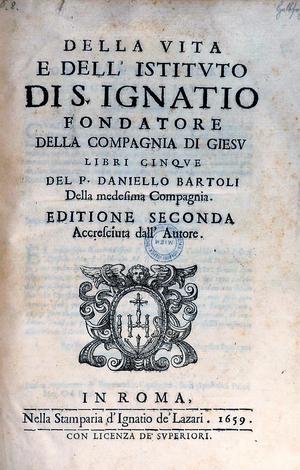 Daniello Bartoli - Image: S. Ignatio 1659