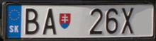 plaque d 39 immatriculation slovaque wikimonde. Black Bedroom Furniture Sets. Home Design Ideas