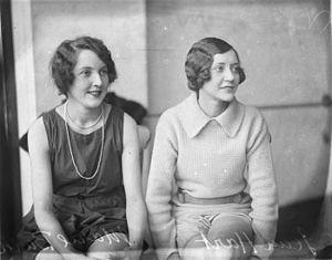 Marie Burke - Actresses Jean Hart and Marie Burke