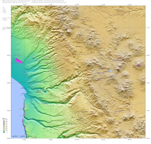 Azapa Valley - Topography of the Azapa Valley
