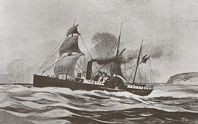 July 30: Steamer Brother Jonathan sinks. SS Brother Jonathan 1862.jpg