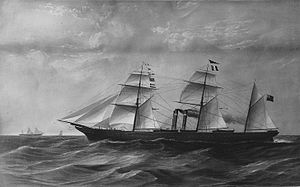 Hugh Allan - The Canadian, 1855. Along with the Indian these superior ships helped Allan to secure the Royal Mail contract in 1856