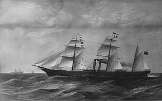 Hugh Allan - The Canadian, 1855; along with the Indian, these superior ships helped Allan to secure the Royal Mail contract in 1856