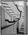 STAIRWAY BALUSTRADE ON SECOND FLOOR - Colony House, Washington Square, Newport, Newport County, RI HABS RI,3-NEWP,9-32.tif