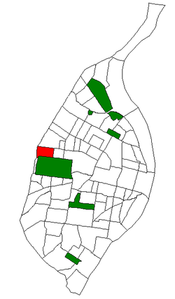 Location of Skinker DeBaliviere within St. Louis