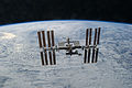 STS-133 International Space Station after undocking 6.jpg