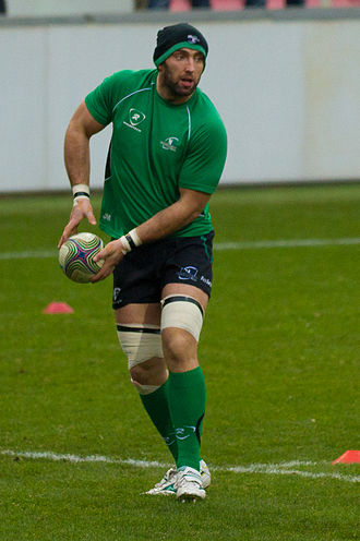 John Muldoon (rugby player born 1982) - Muldoon in the warm up for Connacht's 2011–12 Heineken Cup match with Toulouse