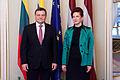 Saeimu oficiālā vizītē apmeklē jaunievēlētais Lietuvas Seima priekšsēdētājs (8265673393).jpg