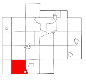 Saginaw County Michigan townships Brady highlighted.png