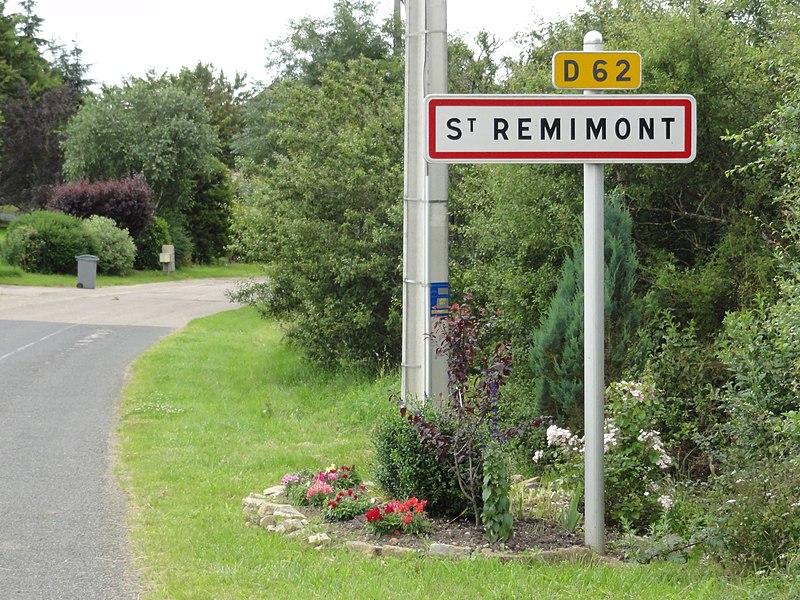 Saint-Remimont (M-et-M) city limit sign