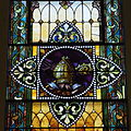 Saint Augustine Catholic Church (Lebanon, KY) - stained glass, mitre.jpg