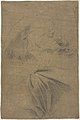 Saint Bartholomew (recto); Study of Drapery and Two Hands (verso) MET DP808030.jpg
