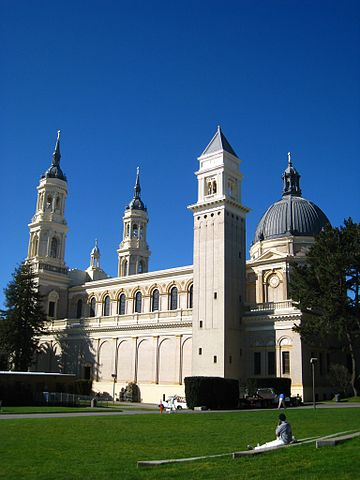 Saint Ignatius Church, on the campus of the University of San Francisco, California. Saint Ignatius Church, University of San Francisco, left side view.jpg