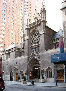 St. Malachy Roman Catholic Church church building in Manhattan, United States of America