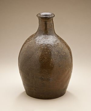 Echizen ware - Echizen ware sake bottle (tokkuri), Momoyama period, late 16th century