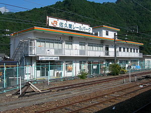 Sakuma Rail Park - View from the station platform in August 2008