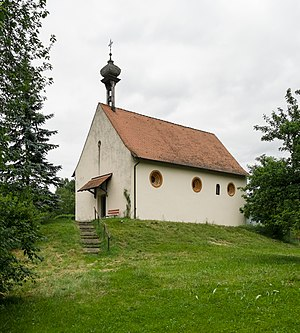Chapel of St. Josef on the Burgstall from the southwest (March 2011)