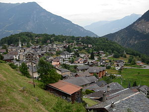 Salvan, Switzerland - Salvan village