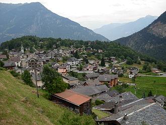 Salvan, Switzerland - Salvan village