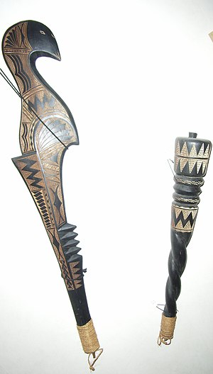 Uafato - Carved Samoan weapons