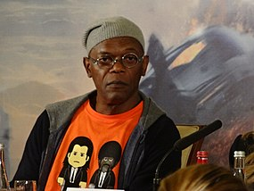 Samuel L. Jackson - Captain America 2 press conference.jpg