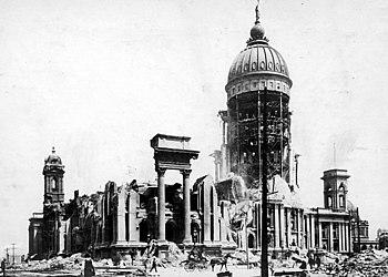 San Francisco City Hall after the 1906 earthquake