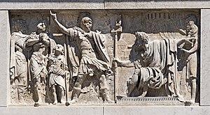 San Maurizio, Venice - Image: San Maurizio (Venice) Bas relief de gauche