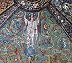 San vitale, ravenna, int., presbiterio, mosaici volta e arcone 12.jpg