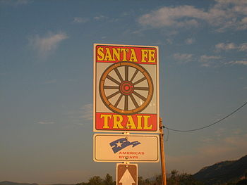 Sign for Santa Fe National Historic Trail.