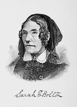Sarah T. Bolton - Engraving by John Sartain, Philadelphia