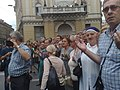 Sarajevans in funeral of 136 Srebrenica genocide victims July 2015 090720151595.jpg
