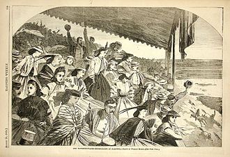Saratoga Race Course - Winslow Homer drawing from August 1865 Harper's Weekly