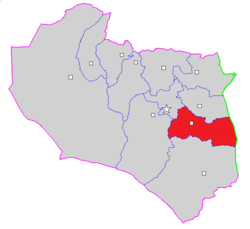 Map of Sarbisheh County in South Khorasan province