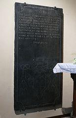dalle funéraire de Jean-François de Kiecler