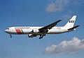 Scandinavian Airlines Boeing 767-383ER; OY-KDH@LHR;04.04.1997 (4904928234).jpg
