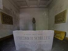 In der Nacht zum 12.Mai 1805 wurde Friedrich Schiller auf dem Friedhof der St.Jakobskirche in Weimar beigesetzt. (Quelle: Wikimedia)