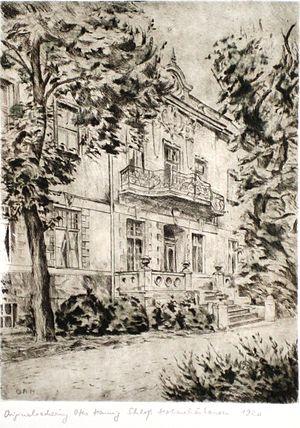 Hohenschönhausen Castle - Hohenschönhausen Castle, etching by Otto Hennig (1920)