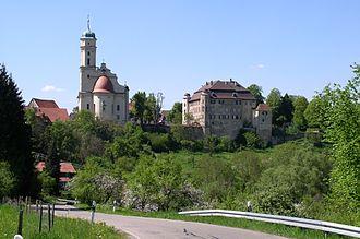 Abtsgmünd - Image: Schlosskirche und Schloss Hohenstadt
