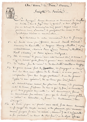 The Pictet Group - Image: Scripte de société Pictet page 1