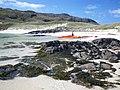 Sea kayaks on Sandray beach - geograph.org.uk - 1475593.jpg