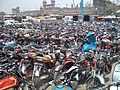Sea of motorcycles scooters at Lahore Railway Station.jpg