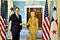 Secretary Clinton Shakes Hands With Panamanian Vice President and Foreign Minister Varela (5039861369).jpg