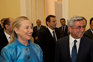Serzh Sargsyan - Sargsyan and US State Secretary Clinton in Yerevan, 4 June 2012